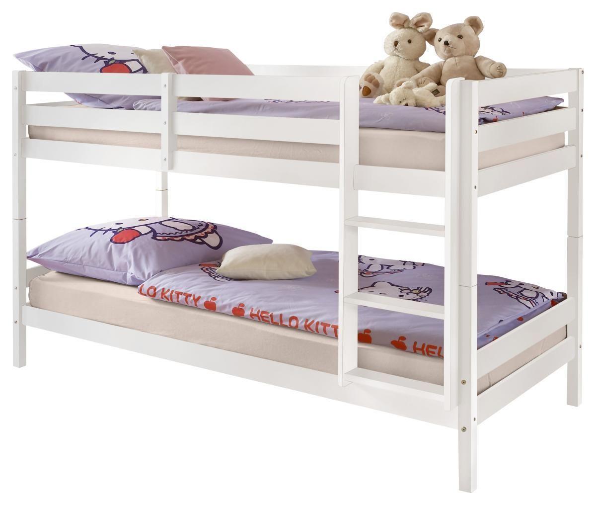 Etagenbett Ja Oder Nein : Kinderbett etagenbett pauli buche vollholz massiv weiß lackiert