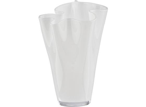 Váza 'anika' - bílá, Moderní, sklo (18/25cm) - Mömax modern living
