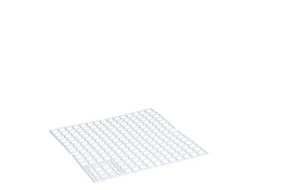 Mosogatómedence Betét Műanyag - fehér, konvencionális, műanyag (33/33cm)