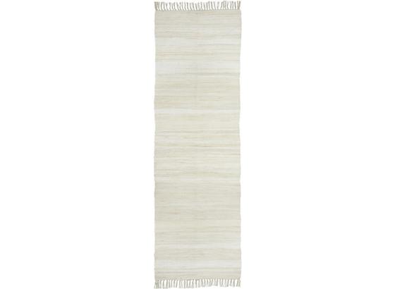Plátaný Koberec Julia - krémová, Konvenčný, textil (70/230cm) - Mömax modern living