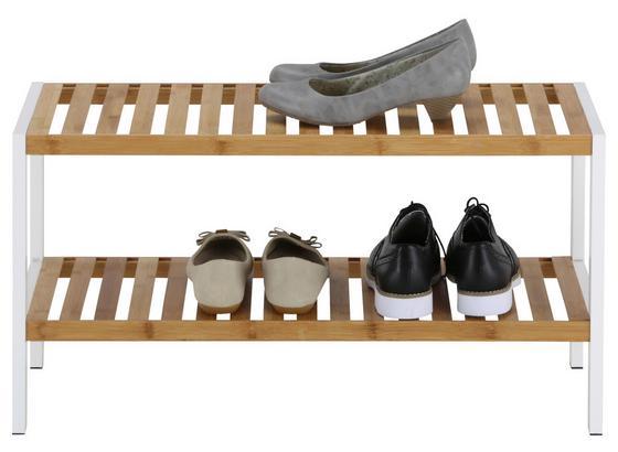 Regál Na Topánky Anna 2 -sb- - prírodné farby/biela, Moderný, drevo/kompozitné drevo (70/36/30cm) - Mömax modern living