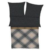 Lizenzbettwäsche Bugatti 4666-980 Mako Satin - Anthrazit/Bronzefarben, Basics, Textil (140/200cm) - Bugatti
