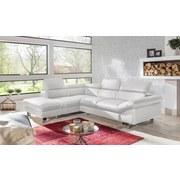 Wohnlandschaft In L-Form Driver 214x266 cm - Chromfarben/Weiß, MODERN, Textil (214/266cm)