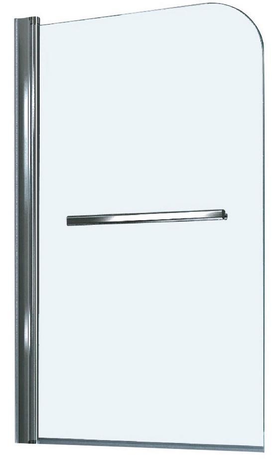 Badewannenaufsatz für Badewanne Haiti und Paros - Chromfarben, KONVENTIONELL, Glas/Metall (80/140cm)