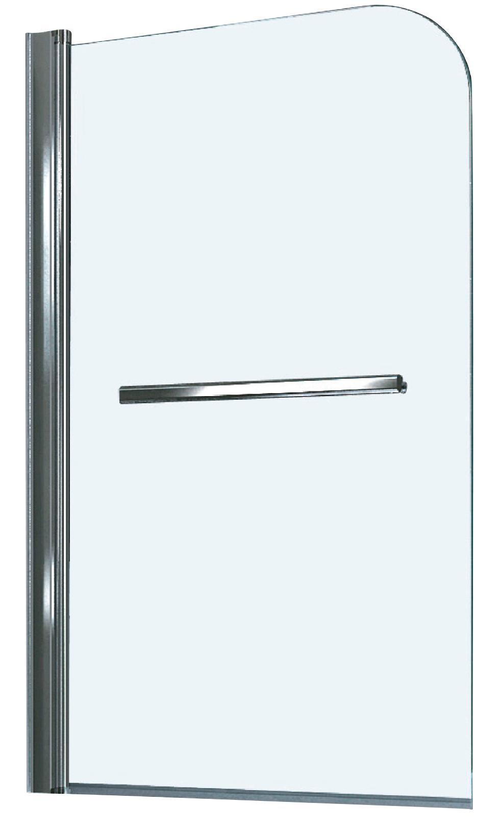 Badewannenaufsatz Für Badewanne Haiti Und Paros   Chromfarben,  KONVENTIONELL, Glas/Metall (80