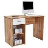Íróasztal Kubek 2 - Tölgyfa/Fehér, modern, Faalapú anyag (110/75/50cm)