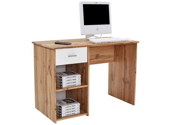Písací Stôl Kubek 2 *cenový Trhák* - farby dubu/biela, Moderný, kompozitné drevo (110/75/50cm)