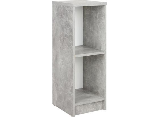 Regál 4-you New Yur04 - šedá/bílá, Moderní, kompozitní dřevo (30/85,5/34,6cm)