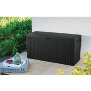 Kissenbox Comfy  B: 116,7 cm Graphit - Graphitfarben, Basics, Kunststoff (116,7/57/44,7cm)