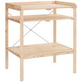 Hochbeet Holz Table mit Ablagen LxBxH: 44,7x85x97,5 cm - MODERN, Holz (46/85/97,5cm) - James Wood