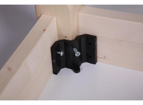 Zargenbeschlag Zargenbeschlag B: 6 cm - Schwarz, Basics, Kunststoff (6cm)