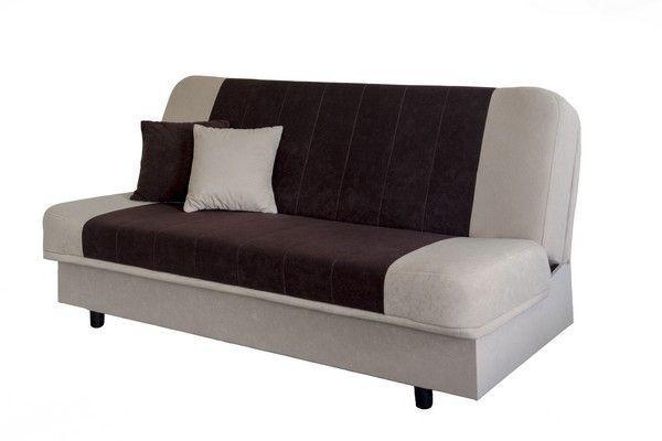 Kanapé Belluno - bézs/barna, romantikus/Landhaus (193/85/80cm)