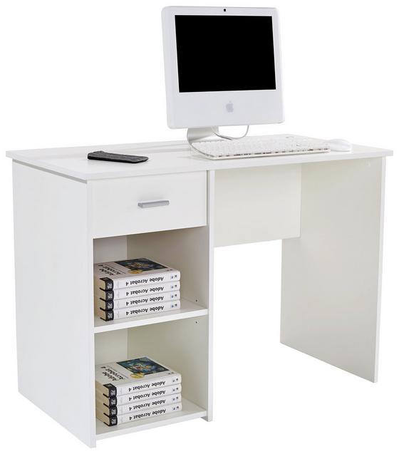 Schreibtisch Kubek 2 - Weiß, MODERN, Holzwerkstoff (110/75/50cm)