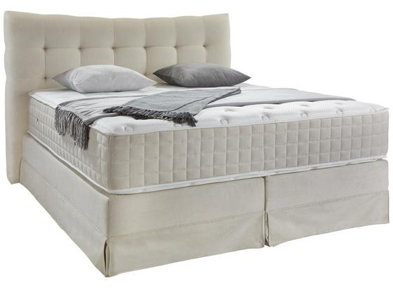 Boxspringbett Domino ca.200/200cm, Creme - Creme, KONVENTIONELL, Holz (200/200cm) - James Wood