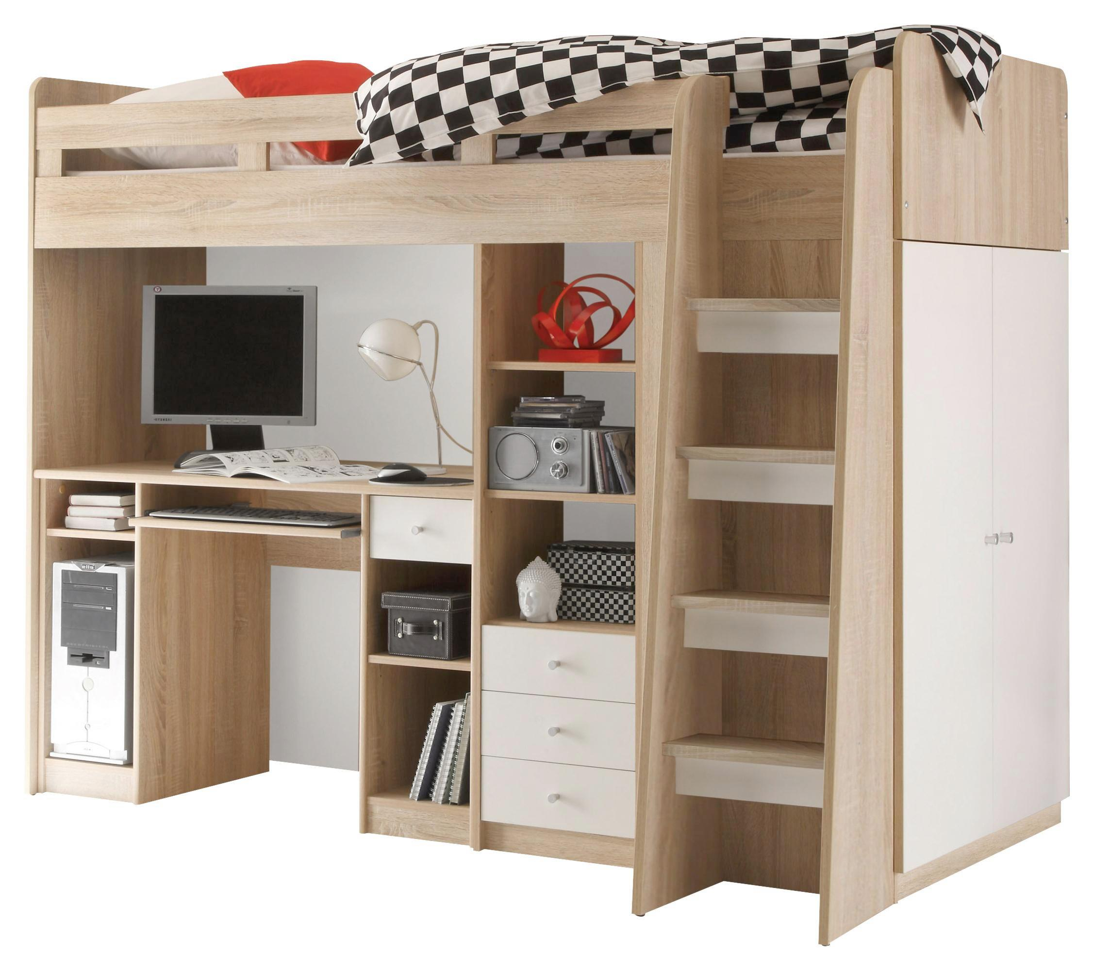 hohe betten fabulous hochbett baumhaus inkl lattenrost spielbett massivholz wei xcm uvp euro. Black Bedroom Furniture Sets. Home Design Ideas