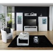 Wohnkombination Bree 3 - Weiß, MODERN, Holzwerkstoff (301/203/49cm)