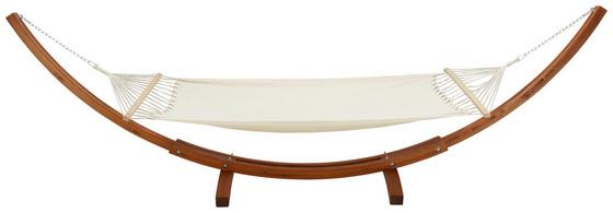 Hängematte Bali - Creme/Teakfarben, MODERN, Holz/Textil (415/122/150cm) - Ombra
