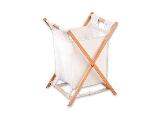 Koš Na Prádlo Cane - přírodní barvy, dřevo/textilie (42/67/42cm)