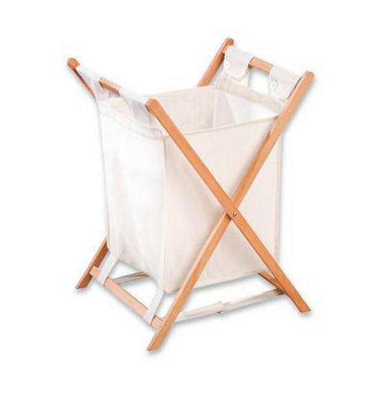 Wäschekorb Cane - Naturfarben, Basics, Holz/Textil (42/67/42cm)