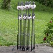 Gartenstecker H: 95 cm - Rosa/Weiß, ROMANTIK / LANDHAUS, Keramik/Metall