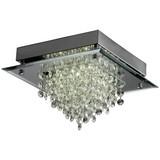 LED-Deckenleuchte Callista - Silberfarben, MODERN, Glas/Metall (30/30/17cm) - LUCA BESSONI