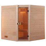 Sauna Valida 2 Gt 289x189 - Naturfarben, MODERN, Glas/Holz (289/203,5/189cm)