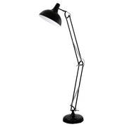 Stehlampe Borgillio Schwarz Metall, Schwenkbar - Schwarz, MODERN, Metall (190cm)