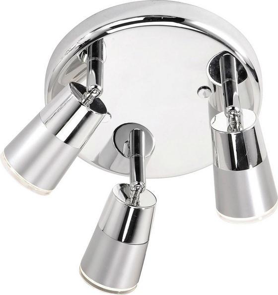 Spotlámpa Dalli - krómszínű/ezüst színű, konvencionális, műanyag/fém (25cm)