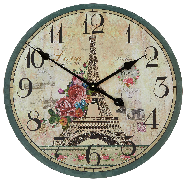 Falióra Nostalgie - multicolor, konvencionális, fa (50cm)