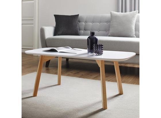 Konferenčný Stolík Mikael - farby borovice/biela, Moderný, drevo (110/50/40cm) - Modern Living