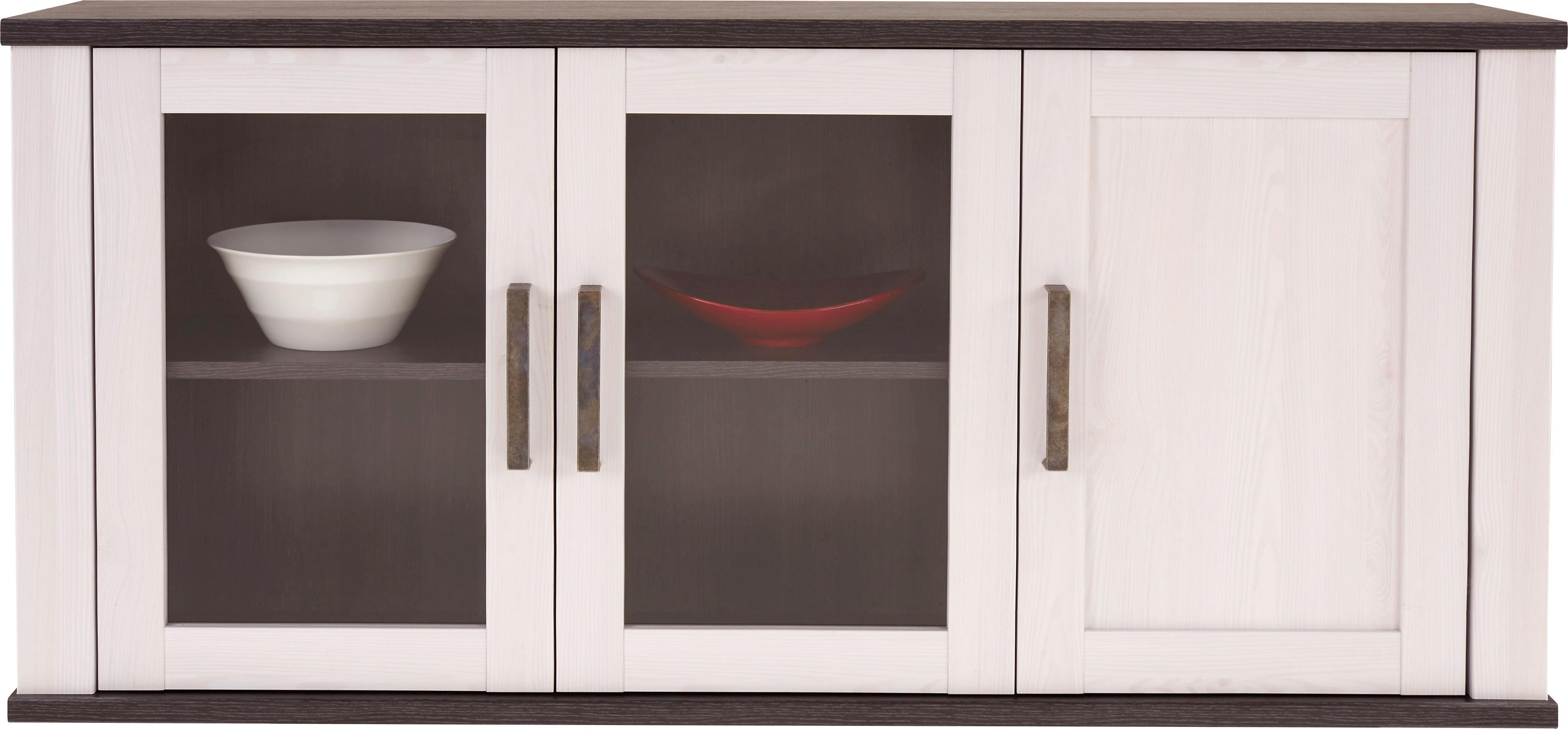Vitrina Viseća Vitrina Viseća - bijela/wenge boje, Romantično / ladanjski, drvni materijal (139/66/30cm)