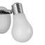 Bodové Svítidlo Bahar - bílá/barvy stříbra, Romantický / Rustikální, kov/umělá hmota (8/9,5cm) - Modern Living