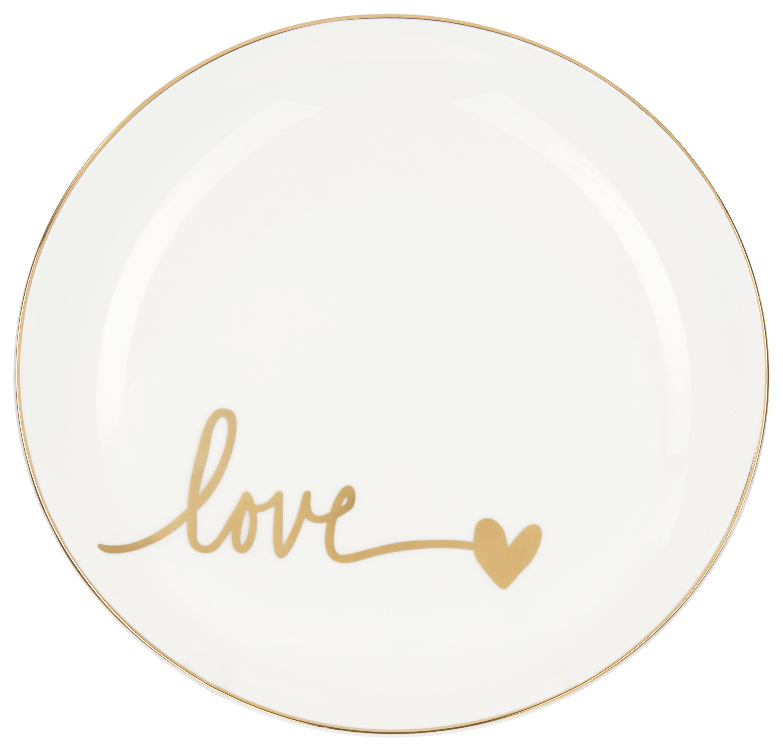 Talíř Dezertní Gloria - bílá/barvy zlata, Moderní, keramika (20,5cm) - MÖMAX modern living
