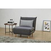 Pohovka S Rozkladom Simon - prírodné farby/sivá, Moderný, drevo/textil (77/84/91cm) - Ombra