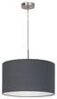 Hängeleuchte Pasteri - Grau/Nickelfarben, MODERN, Textil/Metall (38/110cm)