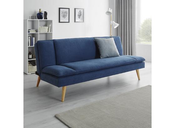 Pohovka Lorenzo - modrá, Moderný, drevo/textil (180/83/93cm) - Modern Living