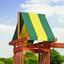 Spielturm Discovery Sunnydale Rutsche, Kletterwand,schaukeln - Gelb/Braun, MODERN, Holz (406,4/284,4/328cm)