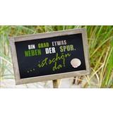 Dekopaneel Neben der Spur - Naturfarben/Grün, MODERN, Holzwerkstoff (15/27cm)