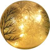 Skulptur LED-Glaskugel Berti - Klar/Goldfarben, LIFESTYLE, Glas (12/10,7cm) - Luca Bessoni