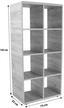Regal Fontana - Eichefarben/Schwarz, MODERN, Holzwerkstoff (73,2/145/35cm)