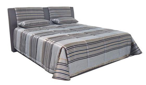 Čalouněná Postel Cca 160x200cm - šedá, Moderní, textil (160/200cm)