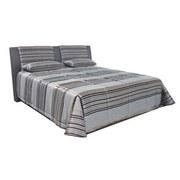 Čalouněná Postel Cca 180x200cm - šedá, Moderní, textil (199/110/220cm)