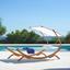 Relaxační Lehátko Curtys - přírodní barvy/barvy modřínu, Moderní, dřevo/textil (224/108/150cm) - Modern Living