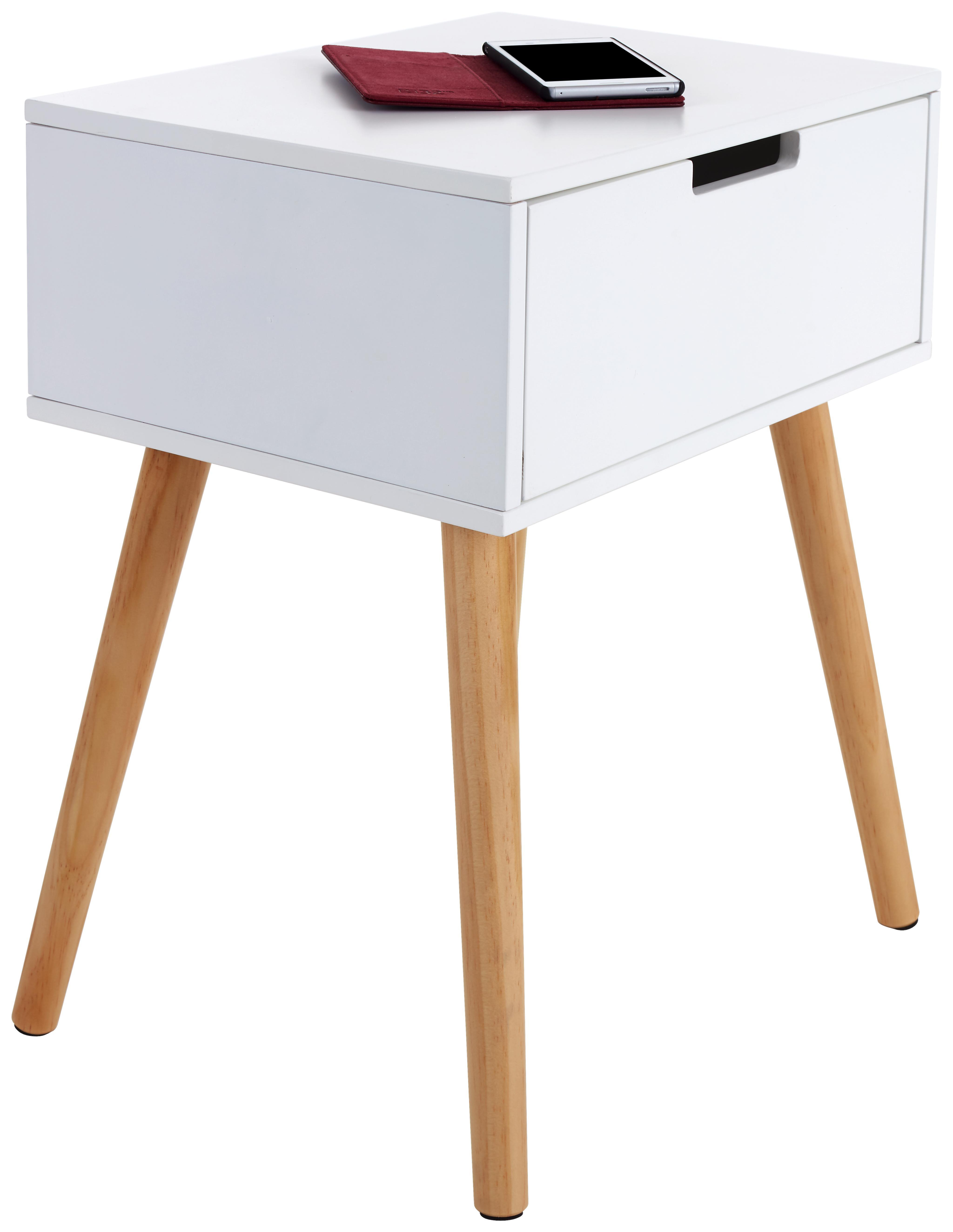 Regal 52 cm breit, Kiefer Holz Massiv, Farbe: Weiß, Höhe