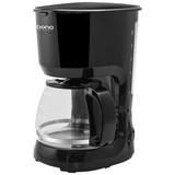 Filterkaffeemaschine Ailin - Schwarz, KONVENTIONELL, Glas/Kunststoff (23/16,8/30,5cm) - Bono