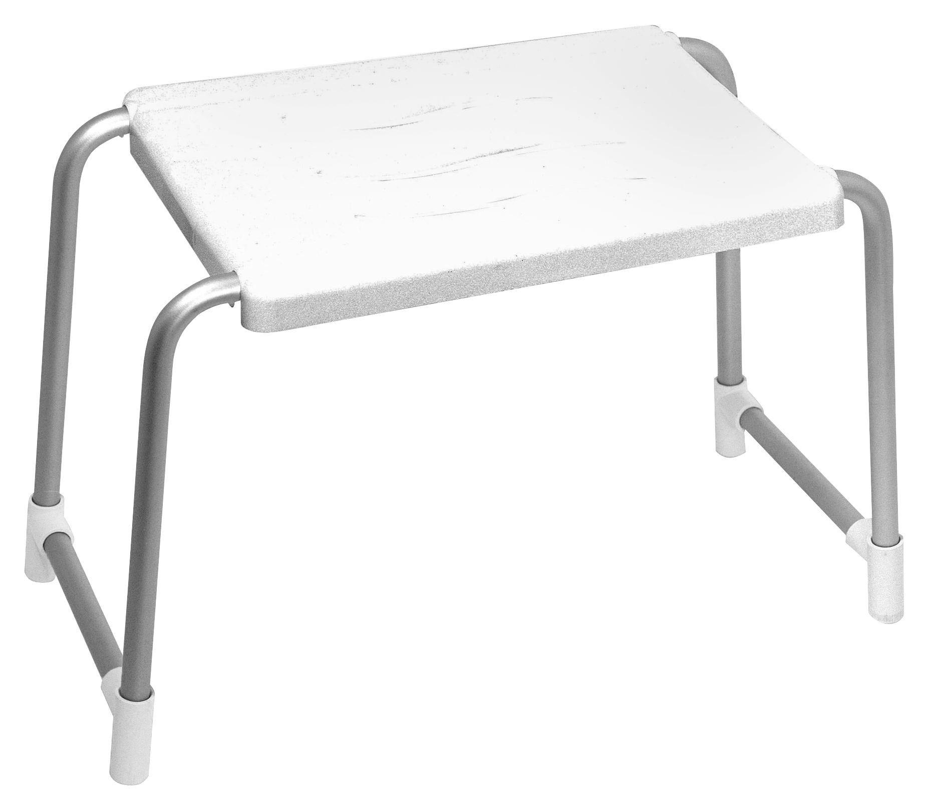 Badhocker Help Base - Alufarben/Weiß, KONVENTIONELL, Kunststoff/Metall (36/33/26cm)