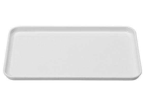 Tablett 18x30cm - Weiß, KONVENTIONELL, Kunststoff (18/2/30cm)