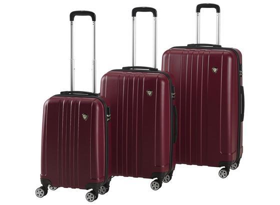 Sada Cestovných Kufrov Mallorca - vínovočervená, kov/plast - Mömax modern living