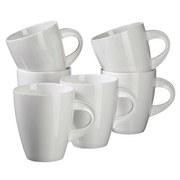 Kaffeebecherset La Musica 6er-Set Weiß - Weiß, Basics, Keramik (29,5/12,5/28cm)