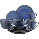 Kombiservice Ossia 16-Tlg - Hellblau, Basics, Keramik (37,7/35,7/37,5cm)